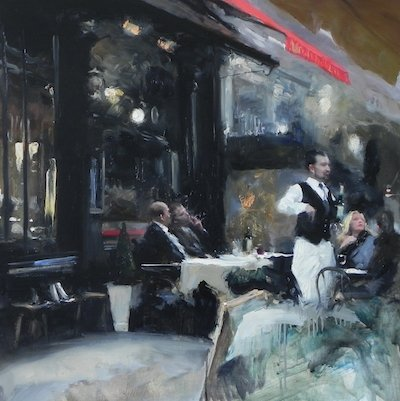the art of conversation 1 oil painting by michael alford