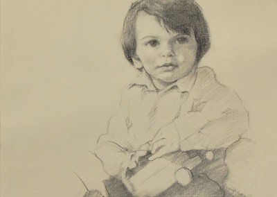 drawing of a dark-haired boy by michael alford