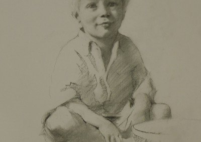 Drawing of a blond boy by michael alford
