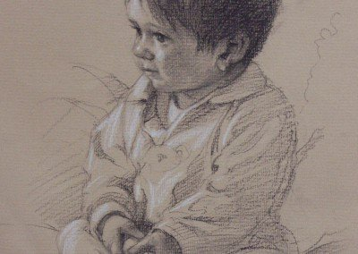 Drawing of a small boy by Michael Alford
