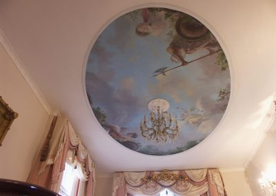 Ceiling Mural Classical Allegory