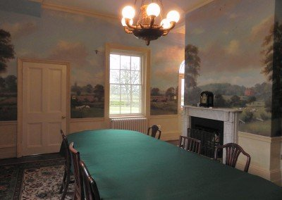 Dining Room with Countryside Murals I by Michael Alford
