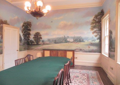 Dining Room with Countryside Murals II by Michael Alford