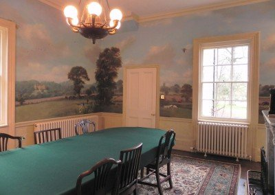 Dining Room with Countryside Murals by Michael Alford