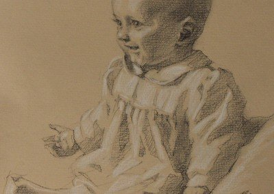 drawing of a baby by michael alford