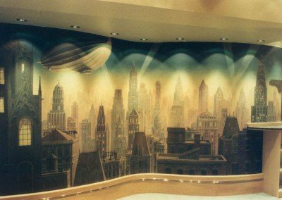 Gotham City Bar Mural by Michael Alford