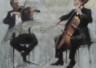 Painting of two classical musicians by Michael Alford