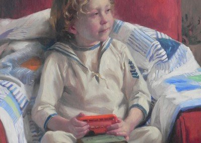 painting of a boy in a sailor suit by michael alford