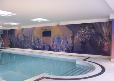 Jazz Pool Mural By Michael Alford