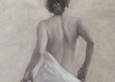 nude, half-draped painting by michael alford