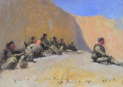 Patrol at Pan Kalay painting by Michael Alford