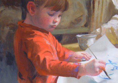 Portrait of a Young Girl Painting