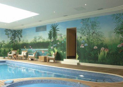 Rousseau Pool Mural by Michael Alford