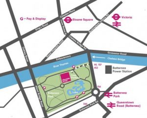 battersea art fair map