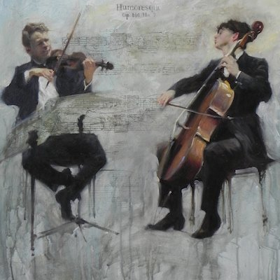 two musicians by michael alford humoresque