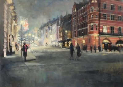 """<Span style=""""font-size: 30px; color: #ff3300;"""">•</span>Up to Piccadilly at Dusk"""