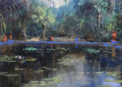 Jardin Majorelle 1 Marrakech painting by Michael Alford