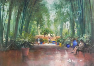 Jardin Majorelle 2 Marrakech oil painting by Michael Alford