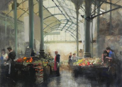 Market 1 oil painting of Borough Market by Michael Alford