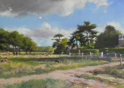 Wimbledon Common Windmill 1 oil painting by Michael Alford