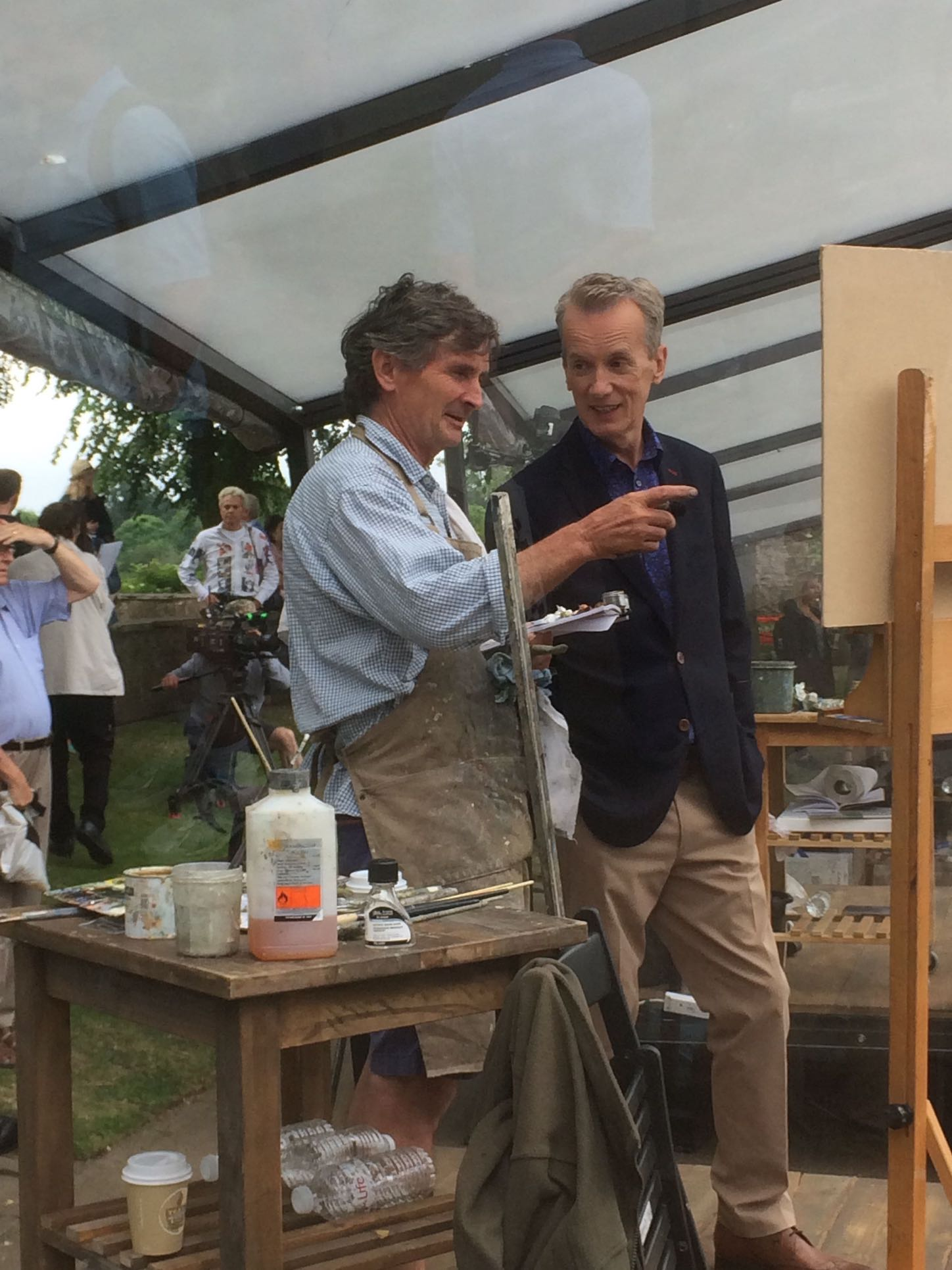 Michael Alford with Frank Skinner