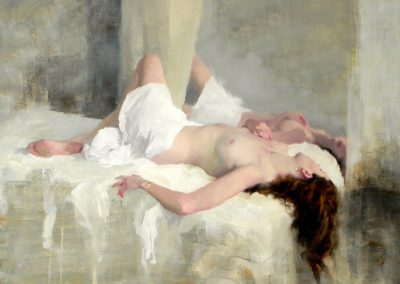 "<Span style=""font-size: 30px; color: #ff3300;"">•</span>Nude/on White 6   20x30"