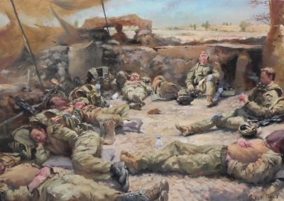 """<Span style=""""font-size: 30px; color: #ff3300;"""">•</span>Resting Soldiers/Irish Guards-Helmand"""