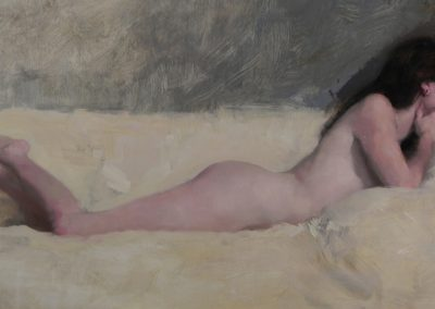 "<Span style=""font-size: 30px; color: #ff3300;"">•</span>Nude on White 5  18x33"