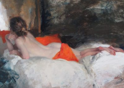 Tangerine Silk painting by Michael Alford