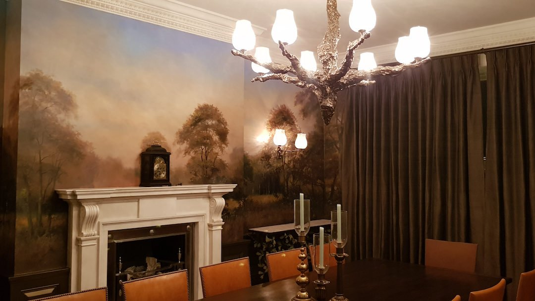 A Woodland Mural for a Dining Room
