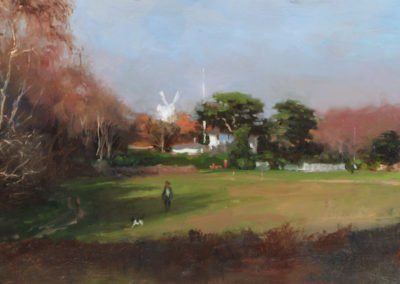 The Windmill, Wimbledon Common, Spring by Michael Alford