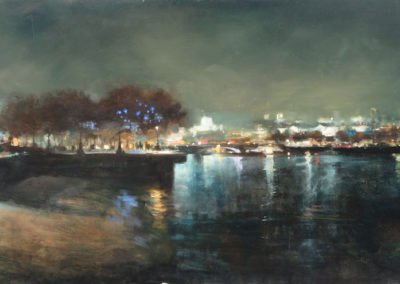 Upriver from Gabriel's Wharf by Michael Alford