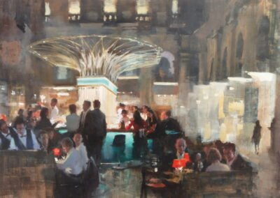 painting of fortnum and masons royal exchange by Michael Alford