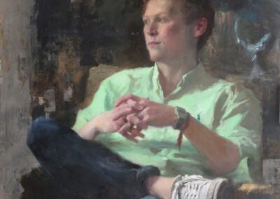 Painting of a young man, Rufus, by Michael Alford