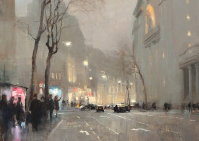 Exhibition Image: painting Aldwych Bush House Winter