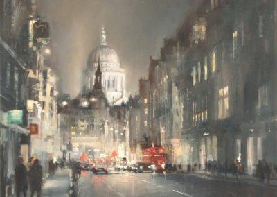 image of painting fleet street to saint pauls