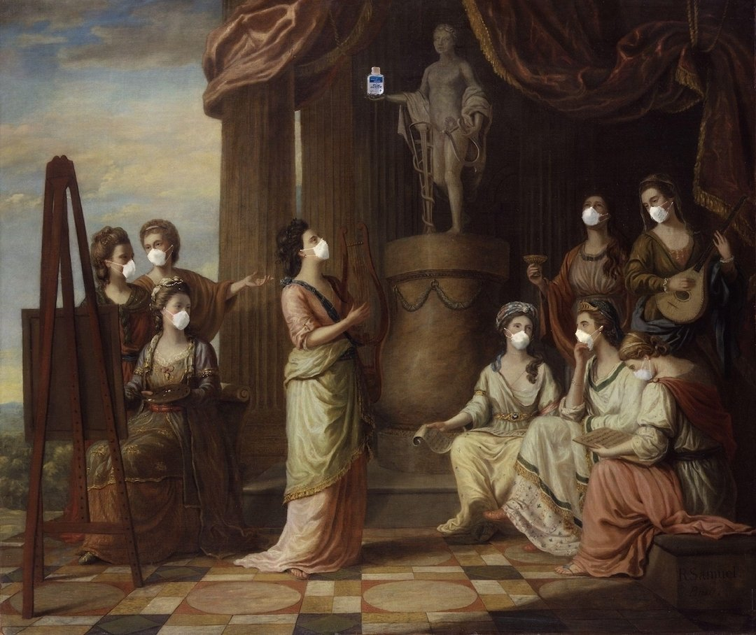 Article illustration: image of muses with masks