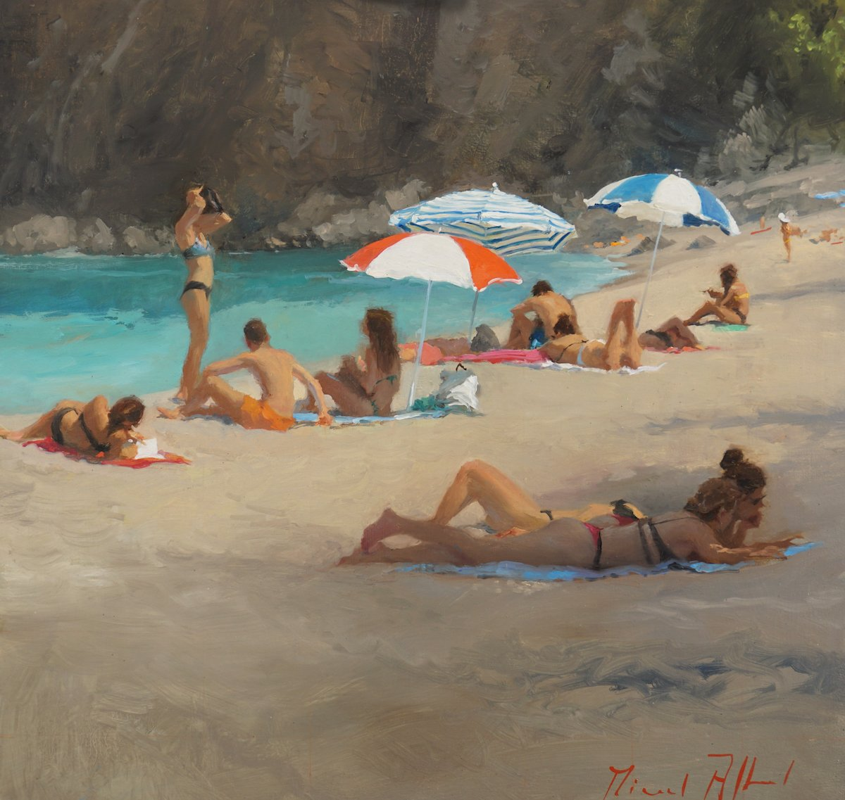 Beach painting by Michael Alford
