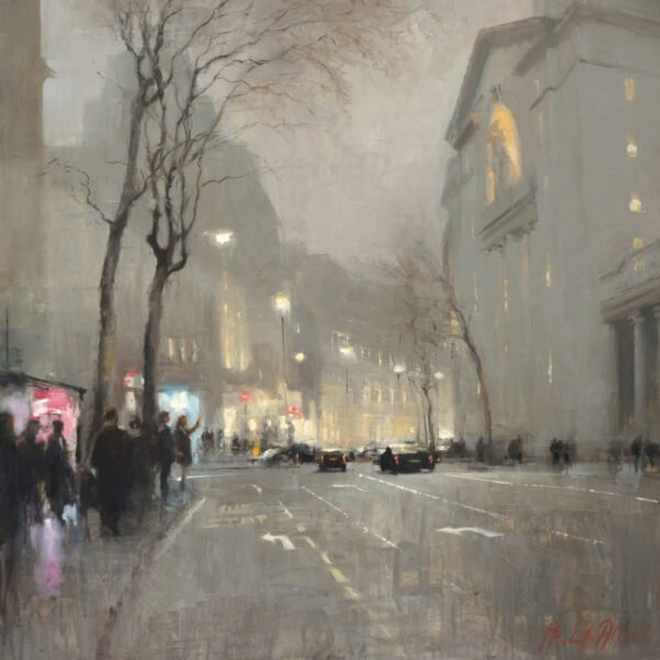 Aldwych, Bush House, Winter Print by Michael Alford