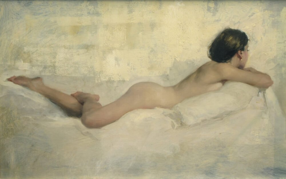 Image of White Couch 2 nude by Michael Alford
