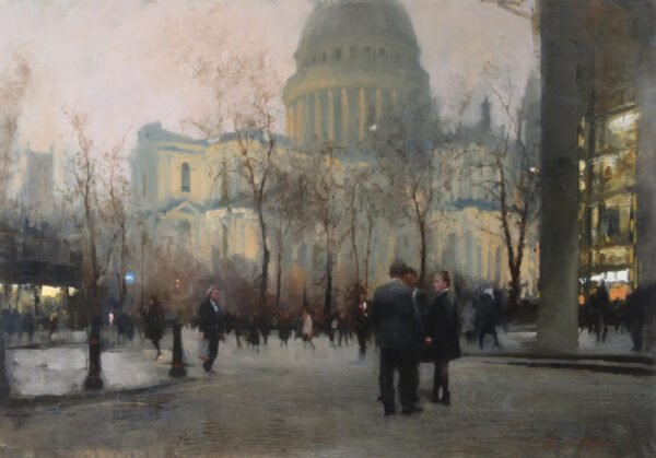 Oil painting by Michael Alford 4 Views of St Pauls 4