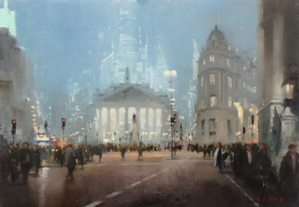 Oil Painting of the Royal Exchange by Michael Alford
