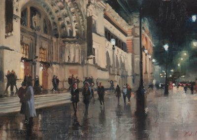 A winter's evening V and A cityscape by Michael Alford