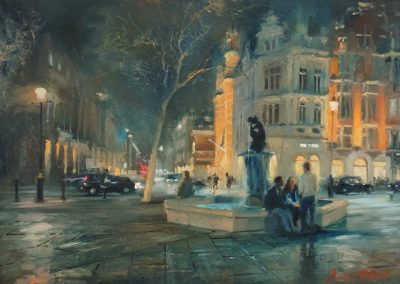 Evening Sloane Square cityscape by Michael Alford