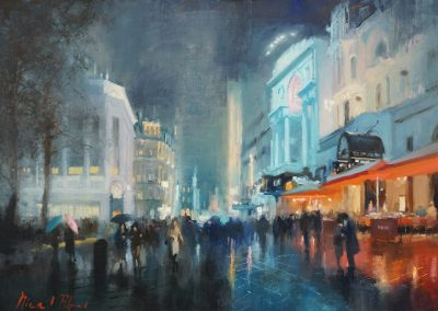 if on a winter's night cityscape by michael alford
