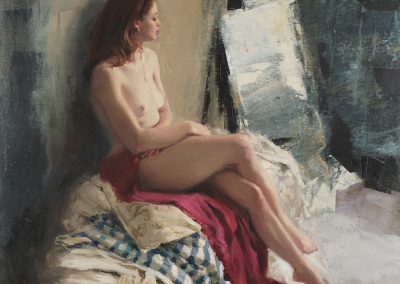Seated Figure painting by Michael Alford