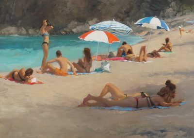Summer reading 1 beach scene by Michael Alford
