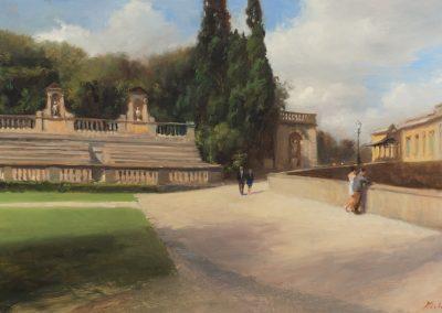 Boboli gardens painting by Michael alford