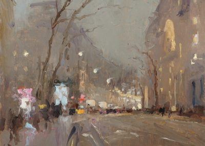aldwych oil sketch painting by michael alford