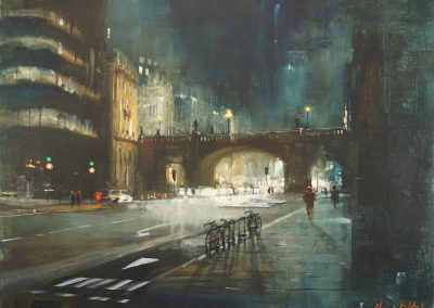 london painting holborn viaducty by Michael Alford